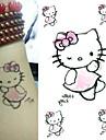 Tatueringsklistermärken Djurserier Ogiftig Ländrygg VattentätSpädbarn Barn Dam Herr Vuxen Tonåring Blixttatuering tillfälliga tatueringar