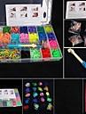 baoguang®fashion métier défini (4200pcs bandes de caoutchouc, 4 clips, 1 paquet métiers, 4 crochets + 1Box)