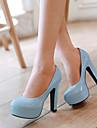 Pantofi pentru femei - Piele Originală - Toc Gros - Tocuri / Vârf Rotund - Pantofi cu Toc - Rochie - Negru / Albastru / Roz / Violet