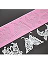 quatre c dentelle tapis silicone gaufrage papillon moule, pad de cuisson tapis de dentelle couleur outils de décoration rose