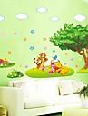 petit arbre amovible et Motif Ours salon / sticker mural chambre