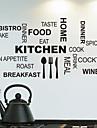 Stickers muraux Stickers muraux, cuisine mots anglais&cite muraux PVC autocollants