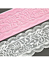 fyra c spets tårta mögel silikon spets matta dekoration pad för tårta bakning, silikonmatta fondant tårta verktyg färgen rosa