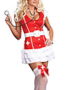 sexig röd spandex sjuksköterska kostym