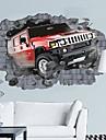 miljö 3d bil bryta igenom väggen designad väggklistermärke