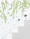 Botanique Bande dessinée Personnes Stickers muraux Autocollants avion Autocollants muraux décoratifs,Vinyle Matériel Lavable Amovible