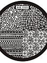 1 Abstrait Tampons Ongles  Modèle d'image Plaques Pochoir