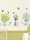 fluture detașabil de mediu și vaza etichete pvc&autocolant