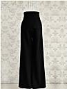 Dame Picior Larg Blugi Pantaloni Vintage Solid Polyester Micro-elastic All Seasons