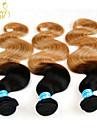 """3 st mycket 14 """"-28"""" ombre peruanska kroppen våg jungfru mänskliga hårförlängningar / väver 2 två ton svart honung blonde 1b / 27 #"""