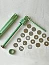 20discs sugarcraft verktyg sugarpaste extruder för lera Fimo hantverk pistol kaka skulptur dekoration