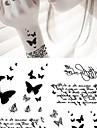 1 Tatueringsklistermärken Djurserier Ogiftig Ländrygg VattentätSpädbarn Barn Dam Herr Vuxen Tonåring Blixttatueringtillfälliga