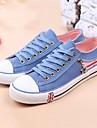 Pantofi pentru femei - Pânză - Toc Plat - Vârf Rotund - Teniși la Modă - Casual - Negru / Albastru