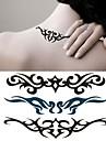 1 pc - Séries de totem - Noir/Vert - Motif - 6*10.5cm (2.36*4.13in) - Tatouages Autocollants Homme/Femme/Adulte/Adolescent