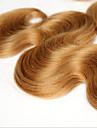 3 delar Kroppsvågor Hårförlängning av äkta hår Brasilianskt hår 100 12-28 Människohår förlängningar