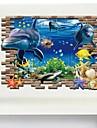 Djur / 3D Wall Stickers Väggstickers i 3D Dekrativa Väggstickers,PVC Material Kan tas bort Hem-dekoration vägg~~POS=TRUNC