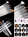 15st vita nail art design målning ritning penna pensel inställd trähandtag akryl pensel