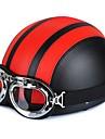 54-60cm lunettes de moto en cuir vintage casques de moitié de style garman Motard cruiser scooter tournées casque