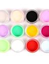 12st blandade färger nail art akrylfärg pulver spik skulptera carving uv målning damm för salong nageldekorationer