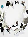 nouveau miroir de décoration papillon pvc 12pcs sticker mural / set