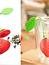 nya silikon jordgubbar designen teblad sil