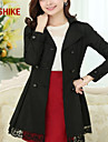 Femei Vintage/Casual/Drăguț(e)/Business/Plus Size Femei Palton Manșon Lung Bumbac/Tricotaje/Spandex/Poliester/Acrilic/Amestecuri Bumbac
