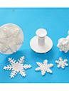 Four-C utmärkt snöflinga sugarcraft fondant kaka Utsmyckning kolv fräsar, jultema tårta verktyg inställd