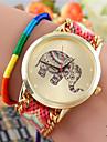 la montre bracelet à quartz occasionnel des femmes COO (couleurs assorties)