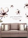 väggdekorationer Väggdekaler, rena naturliga lily pvc vägg klistermärken