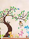 Animale Botanic Forme Perete Postituri Autocolante perete plane Autocolante de Perete Decorative,Vinil Material DetașabilPagina de