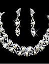 miss u kvinnors alla matchande pärla eleganta halsband&örhängen