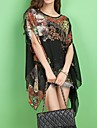 sifon imprimeu floral cu maneci scurte T-shirt Diors femei