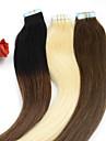 40pieces 2.5g / pc 100g 12inch-26inch vierge bande cheveu humain poste # 6 bande dans les extensions de cheveux humains 004