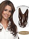 20inch 100% brasilianskt jungfru människohår flip i hårförlängningar # 4 medel brun naturliga våg halo hårförlängningar 004