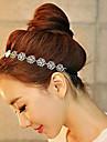 Femei Fata cu Flori Diadema-Nuntă Informal Exterior Cordeluțe 1 Bucată