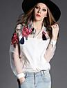 Chemises informelles ( Viscose ) Informel Col chemise à Manches longues pour Femme