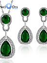 Pentru femei Dame Seturi de bijuterii Zirconiu Cubic La modă Elegant Platină Placat Auriu Coliere Σκουλαρίκια PentruPetrecere Ocazie