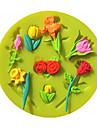 valentine fleurs rose fondant moules à gâteau moule de chocolat pour l'outil de décoration de gâteau de sucre cuisine de cuisson