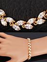 topgold utsökt lyx aaa + zirconia cubic armband armring 18k guldpläterade smycken gåva för kvinnor av hög kvalitet