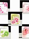 switch väggdekorationer väggdekaler, 5-set blommor kreativa pvc switch klistermärke