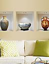 väggdekorationer Väggdekaler, kinesiskt porslin pvc vägg klistermärken