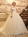 Haine Bal Rochie Nuntă - Elegant & Luxos / Glam & Dramă Inspirație Vintage / Stil Dantelat Trenă Catedrală Bretele Tulle cuAplică /