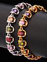 topgold lyx aaa + zirconia cubic färgglada armband armring 18k guldpläterade smycken gåva för kvinnor av hög kvalitet