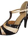 Chaussures de danse Talons personnalisés - Similicuir/Paillettes scintillantes - Danse latine/Salsa