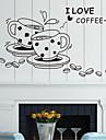 väggdekorationer väggdekaler, stil kaffekopp pvc väggdekorationer