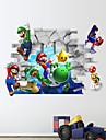 3d vägg klistermärken väggdekaler, Super Mario pvc väggdekorationer