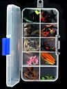40pcs taille aléatoire mouche sèche et humide assortis attire diverses mouche leurres de pêche combo