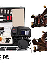 2 Damascus Handmade Tattoo Gun Kit with LED Power
