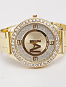 bande d'acier de quartz analogique des femmes z.xuan montre décontracté