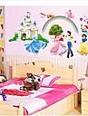 stickers muraux stickers muraux, prince et la princesse muraux PVC autocollants